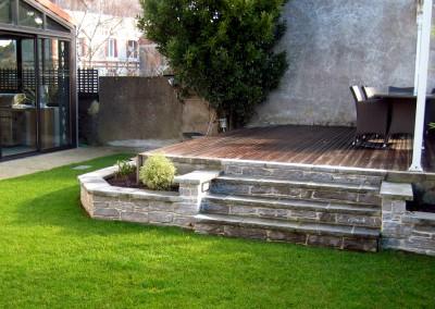 Espace de vie - Escalier, Jardin