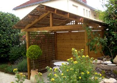 Espace de vie - Abris bois, Jardin
