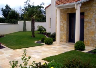 Espace de vie - Jardin, Mur pierre
