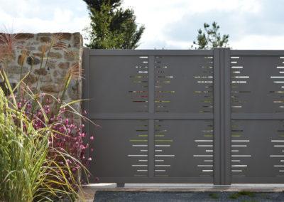 Clôtures - portail aluminium