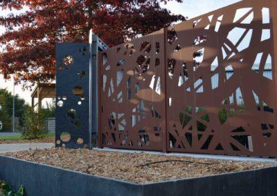 Clôtures - panneaux aluminium